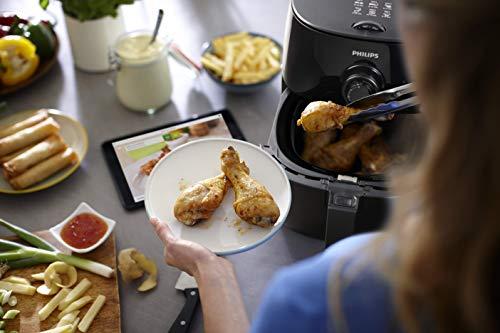 Philips Airfryer HD9621/90 HD9621/90-Freidora sin Aceite (Mango Modular, tecnología TurboStar, Bandeja QuickClean), 1425 W, 1 Kilogram, De plástico (PP), Negro