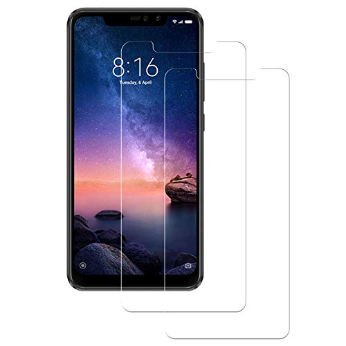 DOSMUNG [2 Stück] Redmi Note 6 Pro Panzerglas Schutzfolie, Redmi Note 6 Pro Panzerglasfolie, [Hoch Transparent] [Keine Blasen] [Anti-Fingerprint] [9H Härte] Displayschutzfolie für Redmi Note 6 Pro
