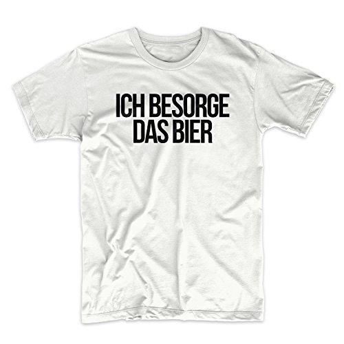 Ich Besorge Das Bier Komisch German Zitat Herren T-Shirt Weiß Large