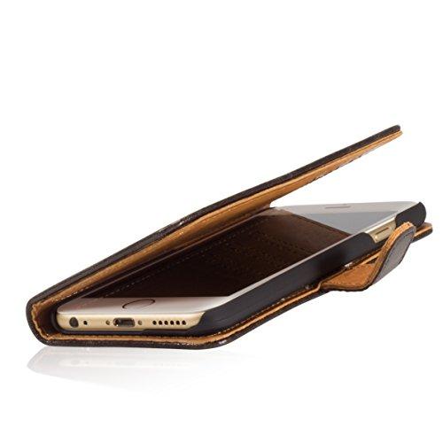 GlüxKind BERLIN Echtledertasche Hülle Case / Flipcase für das Apple iPhone 6s 4,7_ aus echtem LederGlüxKind Berlin Echtledertasche Case Hülle Buchtasche /Bookcase für das Apple iPhone 6 4,7_ aus echt Braun