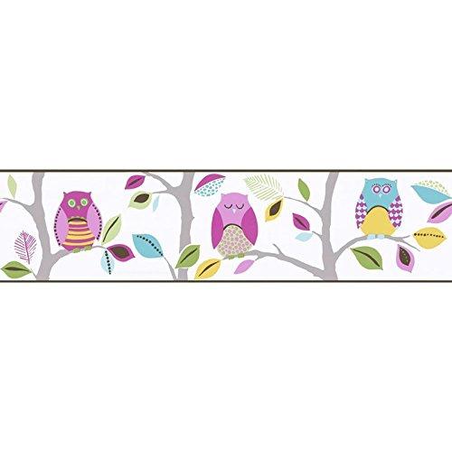 BRIGHT Owls Bordüre, selbstklebend, (8955–23)