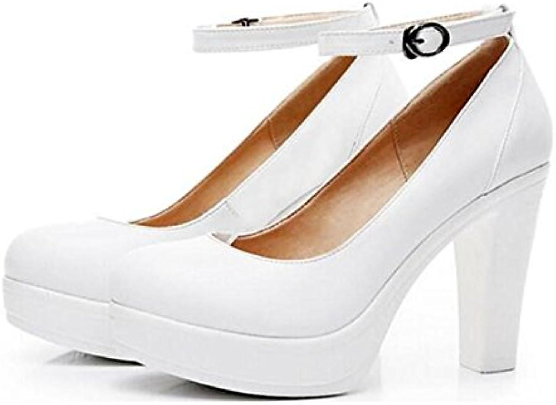 Scarpe da donna Pelle Block Heel Mary Jane Ufficio Lavoro Formale Caviglia Cintura piattaforma Tribunale Pompa... | Attraente e durevole  | Gentiluomo/Signora Scarpa