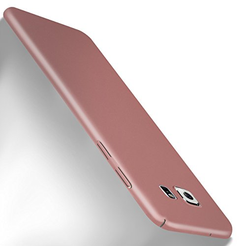 MoEx Samsung Galaxy S7 Hülle Rose-Gold OneFlow Alpha Back-Cover TPU Schutzhülle Dünn Handyhülle für Samsung Galaxy S7 Case Ultra-Slim Thin Skin Handy Schutz Rückseite (Pink Hard Case Cover)