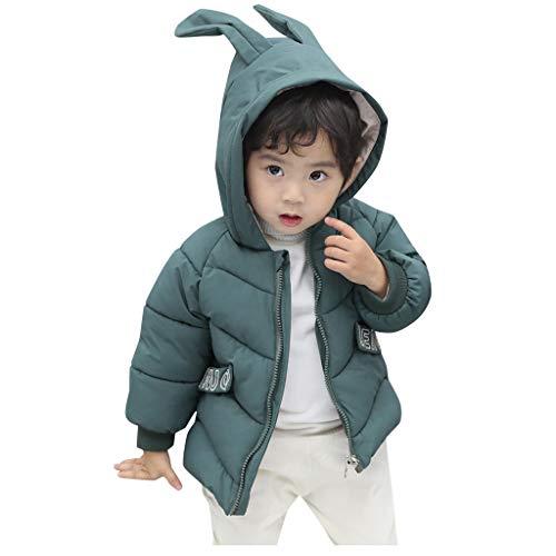 LEXUPE Baby Fleece-Overall, atmungsaktiver Unisex-Jumpsuit für Jungen und Mädchen mit langem Reißverschluss und Kapuze, farbig abgesetzt(Grün,110)