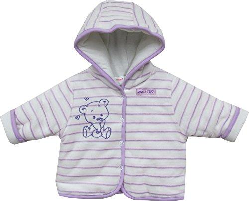Schnizler Baby - Mädchen Jacke Kapuzenjacke Nicki Lovely Teddy, warm wattiert, Gr. 62, Violett (original 900)