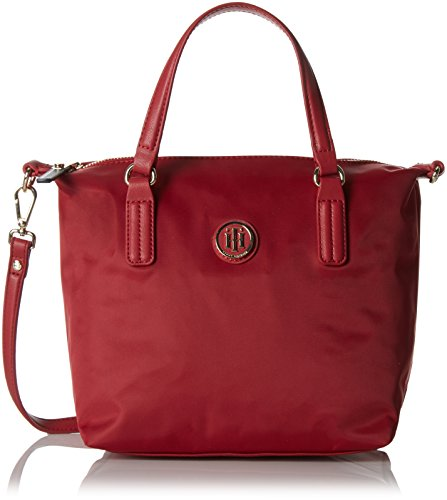 Tommy Hilfiger 8719111592725 Poppy Tote Borsa Messenger, 50 cm, Scooter Red