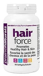 Biotin Prairie Naturals Hair Force Softgels, 90 Count