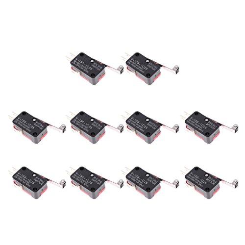 Homyl 10 STÜCKE Micro Endschalter Scharnier Rollenhebel V-156-1C25 Snap Action Zubehör -