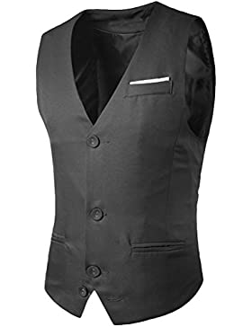 Zhhlaixing Respirable Men's Business Formal Casual Sleeveless Slim Fit Suit Vest Jacket