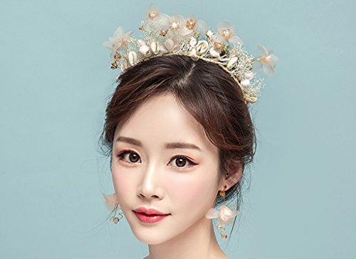 rosettes headdress, headwear dresses, Bride Head Flower Accessories ...