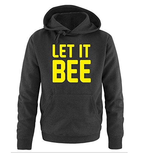 Comedy Shirts - LET IT BEE - Uomo Hoodie cappuccio sweater - taglia S-XXL different colors nero / neon giallo