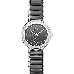 Joalia Women's Analogue Watch with Black Dial Analogue Display and Stainless steel plated Bicolour - 631148