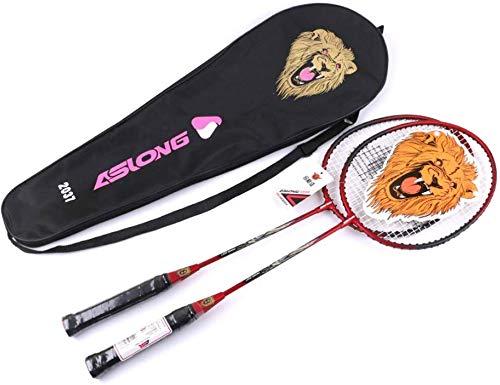 FXDCQC 2 Spieler Badmintonschläger Set - Inklusive 1 Badminton Bag/2 Rackets