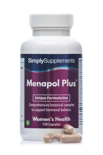 Menapol Plus - Con mirtillo e trifoglio rosso e isoflavoni di soia - 120 capsule - 2 mesi di trattamento - SimplySupplements