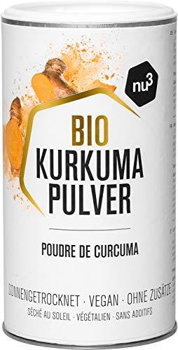 nu3 Bio Kurkuma Pulver | 250 g Pack | 100% Kurkuma Bio-Qualität | tolles Aroma und intensive Farbe | Ideal für Kurkuma Latte oder als Gewürz zum Kochen | Laktose & Glutenfrei