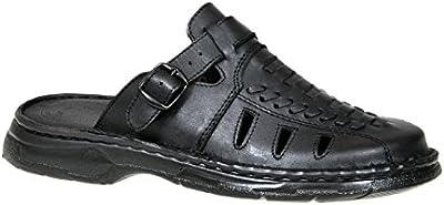 Pie Cerrados Hombre Cómodas Ortopédica Cuero Real Búfalo Sandalias Zapatos Modelo-806