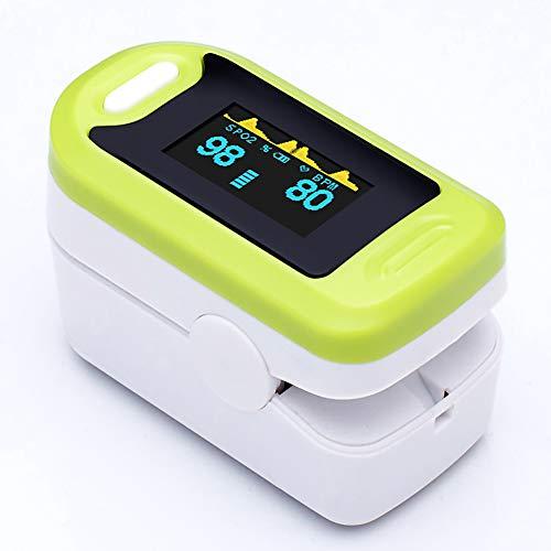 YHMMOO Pulsoximeter Präzise Tragbar Digitales Fingeroximeter mit OLED Display zur Messung von Sauerstoffsättigung (SpO2) Puls (PR) und Perfusion Index (PI) Geeignet für Erwachsene Kinder,Green - Blutdruckmanschette Erwachsene