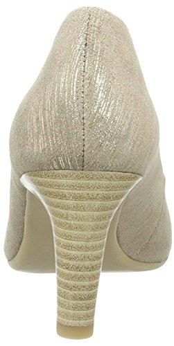 Caprice 29300, Escarpins Bout Ouvert Femme Beige (Taupe Multi)