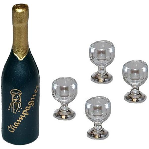 Puppenhaus Puppenstube braune Gläser Flaschen #5AA544-5