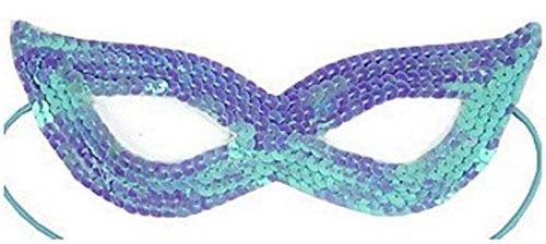 (Inception Pro Infinite Maske - Farbe Blau - Karneval - Halloween - Venetian - Frau - Pailletten)