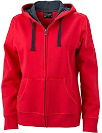 James & Nicholson Damen Sweatshirt Sweatjacke Ladies' Hooded Jacket