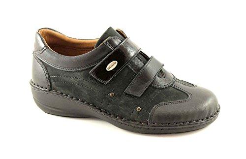 GRUNLAND INES SC1253 nero scarpe donna comfort strappi 39