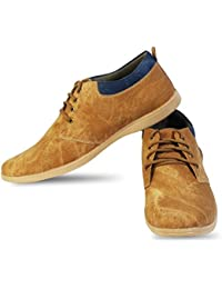 Vihaan Casual Party Wear Beige Sneakers Shoes For Men