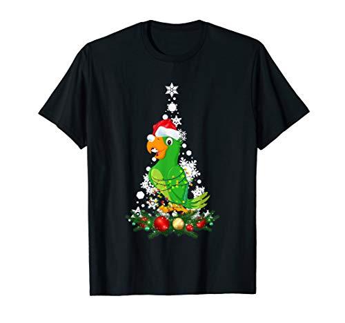 Parrot Christmas Animal Light Tee Funny Christmas Gift T-Shirt -