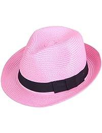 Beanie Sombrero De Paja para Mujer para Hombre Verano Protector Solar  Clásico Panamá Sombrero Moda Casual 879dfabbe940