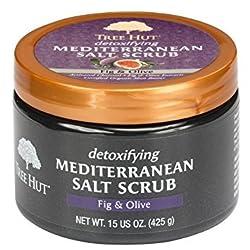 Tree Hut Mediterranean Salt Scrub, Fig and Olive, 15 Ounce