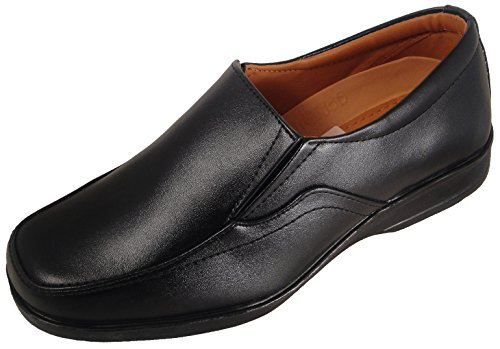 Action Synergy Men's P1411 Black Formal Shoes 9 UK