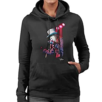 fdfb420b88b Image Unavailable. Image not available for. Colour  Tony Mottram Official  Photography - Alice Cooper Top Hat Performing Women s Hooded Sweatshirt