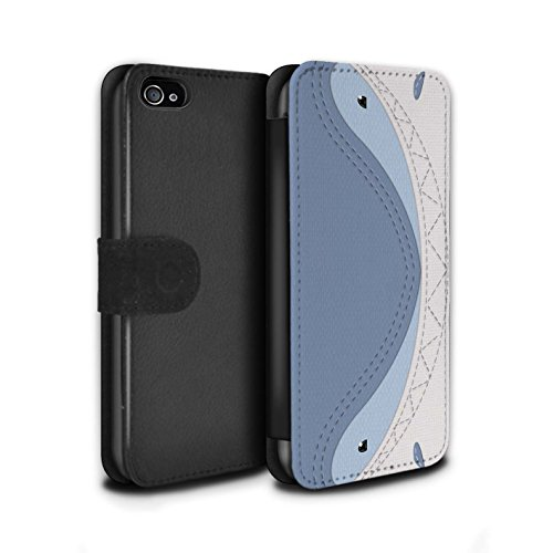 STUFF4 PU-Leder Hülle/Case/Tasche/Cover für Apple iPhone 7 / Frosch Muster / Genähte Tier Effekt Kollektion Hai