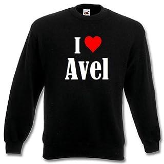 Reifen-Markt Sweatshirt I Love Avel Größe M Farbe Schwarz Druck Weiss