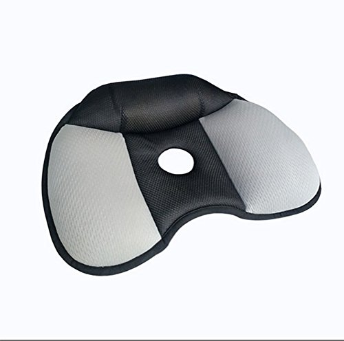 ODEER Cuscino per Sedile Memoria di Forma Migliora La Postura Sciatica Sollievo dal Dolore E Modellamento Dell'anca,Black
