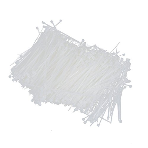 TOOGOO(R) Blanc Autobloquant Nylon Emballage cable glissiere attache 1000 Pcs