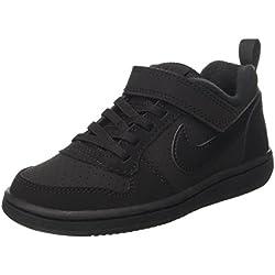 Nike Court Borough Low (PSV), Chaussures de Basketball garçon, Noir Black 001, 35 EU