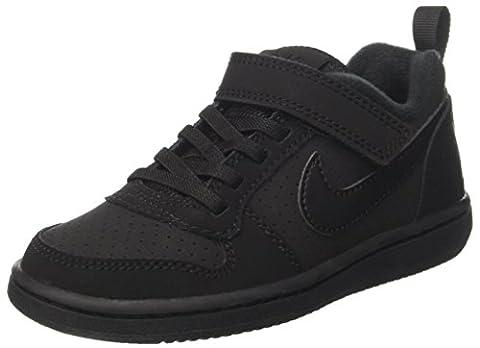 Nike Court Borough Low, Baskets Garçon, Noir (Black/Black), 32