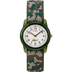 Timex – Reloj de Cuarzo para niños, Correa Textil, Sumergible a