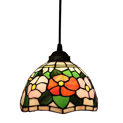Tiffany Style Pendelleuchten, ZYF Beleuchtung Titania Antik Und Jeweled Uplighter Sunflower Design Deckenleuchte Anhänger Glasmalerei Schatten, 22 *   30Cm -