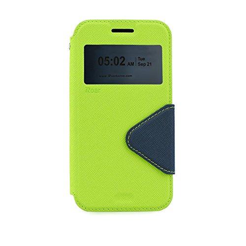 """S-VIEW BOOK CASE ROAR FANCY für Apple iPhone 7 4,7"""" Cover Handy Tasche Flipcase Etui Buchform Kunststoff Silikon Halterung für Kreditkarten (grün / dunkelblau) grün / dunkelblau"""