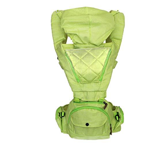 YLET Babytrage Ergonomisch mit Hüftsitz Kinderrucksack 3 in1 für Kleinkinder Tragetuch Neugeborene Atmungsaktiv und weich Baby Warp für die ganze Saison,Green-OneSize -