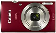 Canon IXUS 185 digitale camera (20 MP, 8X optische zoom, 6,8 cm (2,7 inch) LCD-display, HD movies), Single, rood