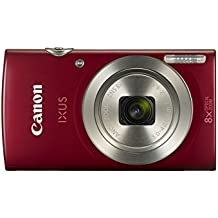 Canon IXUS 185 Digitalkamera (20 Megapixel, 8x optischer Zoom, 6,8 cm (2,7 Zoll) LCD Display, HD Movies) rot