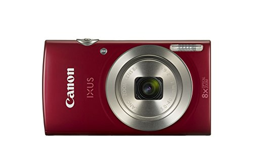 Canon IXUS 185 Digitalkamera (20 MP, 8x optischer Zoom, 6,8cm (2,7 Zoll) LCD Display, HD Movies) rot (Digital Kamera System Kompakt)