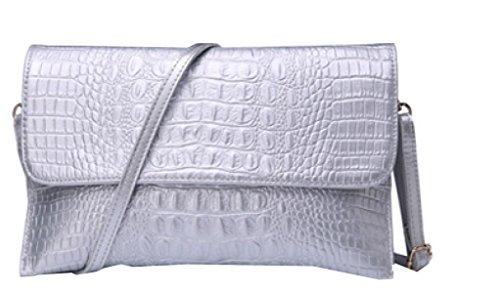 Borse Signora Yy.f Frizione Selvatici Temperamento Borse In Pelle Nuove Moda Femminile Sacchetto Della Busta Capacità Semplice E Alta. Multicolore White