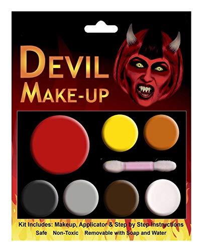 Islander Fashions Halloween Teufel Gesicht Make Up Multi Palette Kit Kost�mzubeh�r Einheitsgr��e