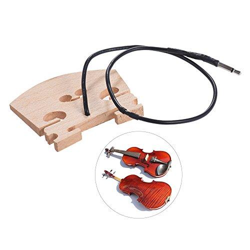 Kalaok Violin-Brücke mit innen montierten Piezo-Tonabnehmer für 4/4 Full Size Elektrische Violine Teile Ersatz
