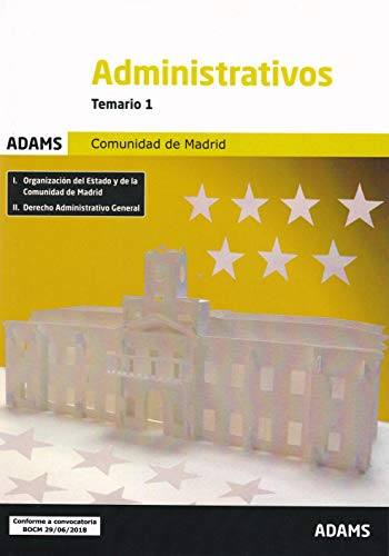 Temario 1 Administrativos Comunidad de Madrid por Obra colectiva