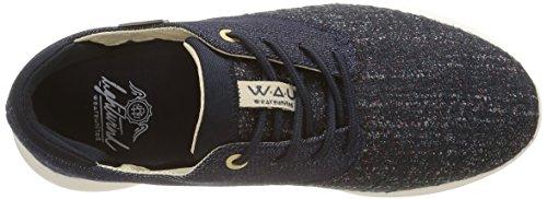 WAU Lightwind, Baskets Basses Femme Bleu (Denim)